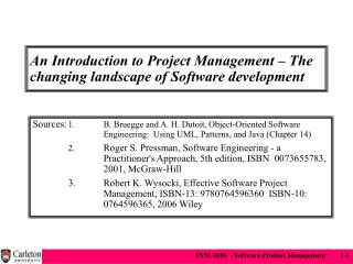 An Introduction to Project Management – The changing landscape of Software development