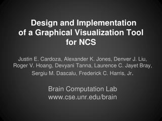Design and Implementation  of a Graphical Visualization Tool for NCS