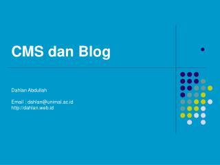 CMS dan Blog