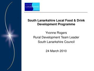South Lanarkshire Local Food & Drink Development Programme