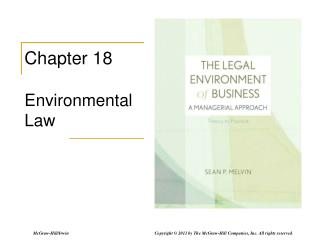 Chapter 18 Environmental Law
