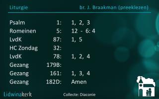 Liturgie br. J.  Braakman  ( preeklezen )