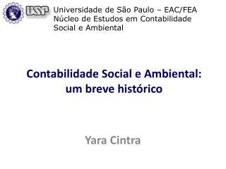 Contabilidade Social e Ambiental: um breve histórico