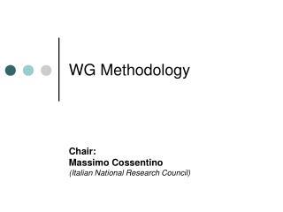 WG Methodology