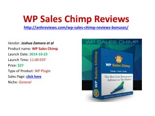 Wp Sales Chimp Reviews Bonuses Discount Download