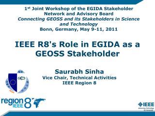 IEEE R8's Role in EGIDA as a GEOSS Stakeholder