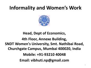 Informality and Women's Work