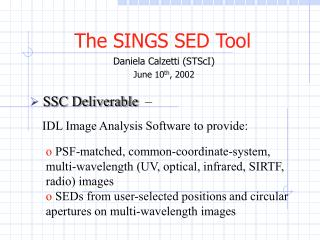 The SINGS SED Tool