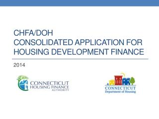 CHFA/DOH Consolidated Application for Housing Development Finance