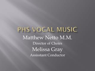 PHS Vocal Music