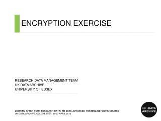 ENCRYPTION EXERCISE