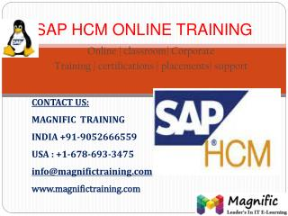 SAP HCM ONLINE TRAINING IN HYDERABAD