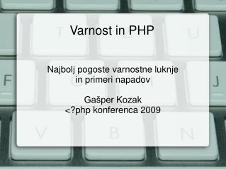 Varnost in PHP