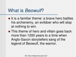 What is  Beowulf ?