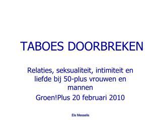 TABOES DOORBREKEN