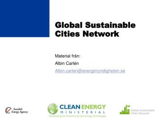 Global  Sustainable Cities Network