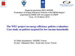Dr Didier bosseboeuf ; ADEME; France Dr jean –Sébastien Broc , Ecole des mines, France