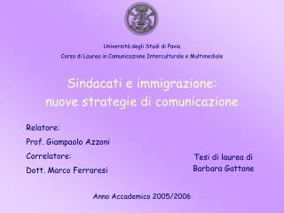 Sindacati e immigrazione: nuove strategie di comunicazione
