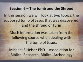 Michael S Heiser  PhD – Association for Biblical Research, Biblical Archeology