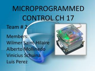 MICROPROGRAMMED CONTROL CH 17