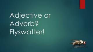 Adjective or Adverb? Flyswatter!