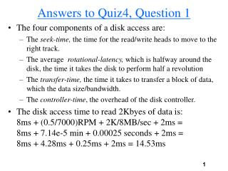 Answers to Quiz4, Question 1