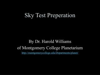 Sky Test Preperation