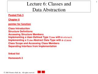 Lecture 6: Classes and Data Abstraction