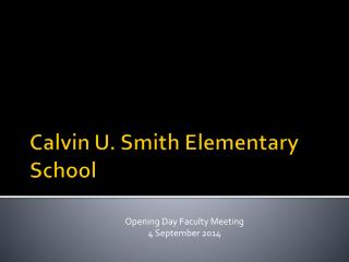 Calvin U. Smith Elementary School