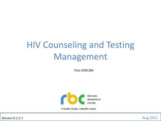 HIV Counseling and Testing Management