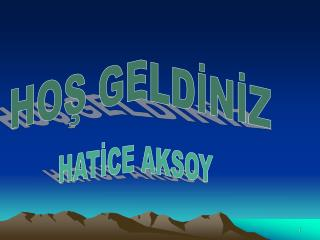 HATİCE AKSOY