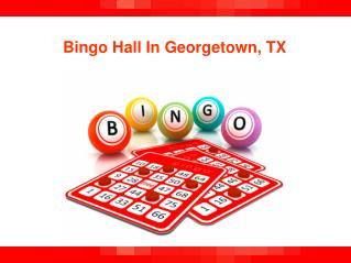 Bingo Hall In Georgetown TX