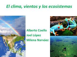 El clima, vientos y los ecosistemas