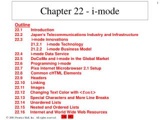 Chapter 22 - i-mode