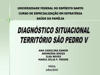 UNIVERSIDADE FEDERAL DO ESPÍRITO SANTO CURSO DE ESPECIALIZAÇÃO EM ESTRATÉGIA  SAÚDE DA FAMÍLIA