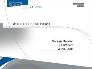 TABLE FILE: The Basics