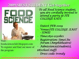 2009 SIFST STUDENT Get-together