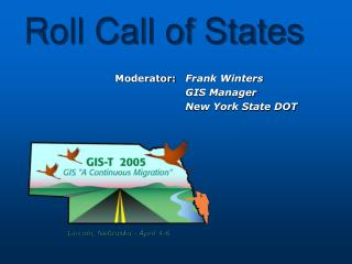 Roll Call of States