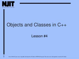 Objects and Classes in C++
