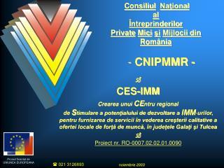 Consiliul Naţional al Întreprinderilor  Private Mici şi Mijlocii din România