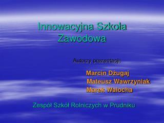 Innowacyjna Szkoła Zawodowa