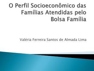 O Perfil Socioeconômico das Famílias Atendidas pelo Bolsa Família