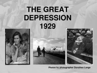 Issues leading to the Great Depression