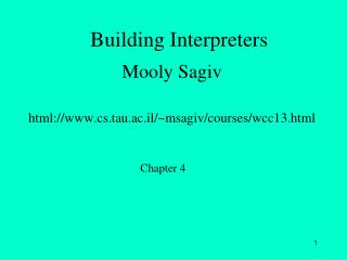 Building Interpreters