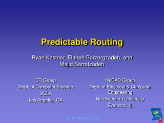 Predictable Routing