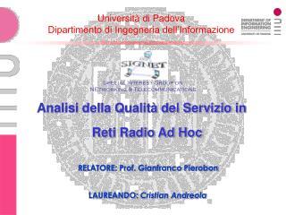 Università di Padova Dipartimento di Ingegneria dell'Informazione