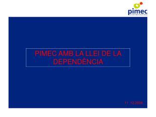 PIMEC AMB LA LLEI DE LA DEPENDÈNCIA