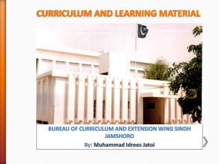 CURRICULUM AND LEARNING MATERIAL