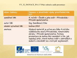 VY_32_INOVACE_Př.4.17-Ptáci zahrad a sadů-prezentace