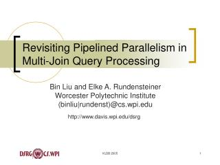 Revisiting Pipelined Parallelism in Multi-Join Query Processing